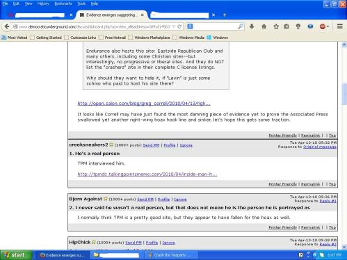 Crash the Teaparty website hosted by former GOP Senate candidate2